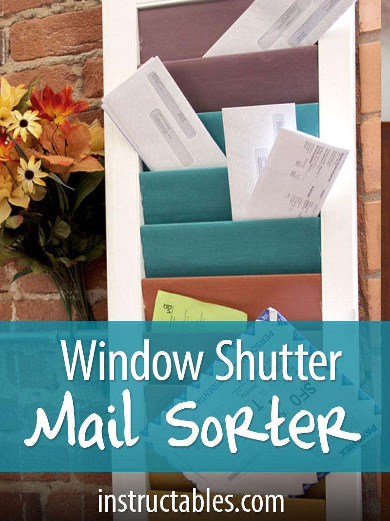 Window Shutter Mail Sorter   Pinterest   Costura