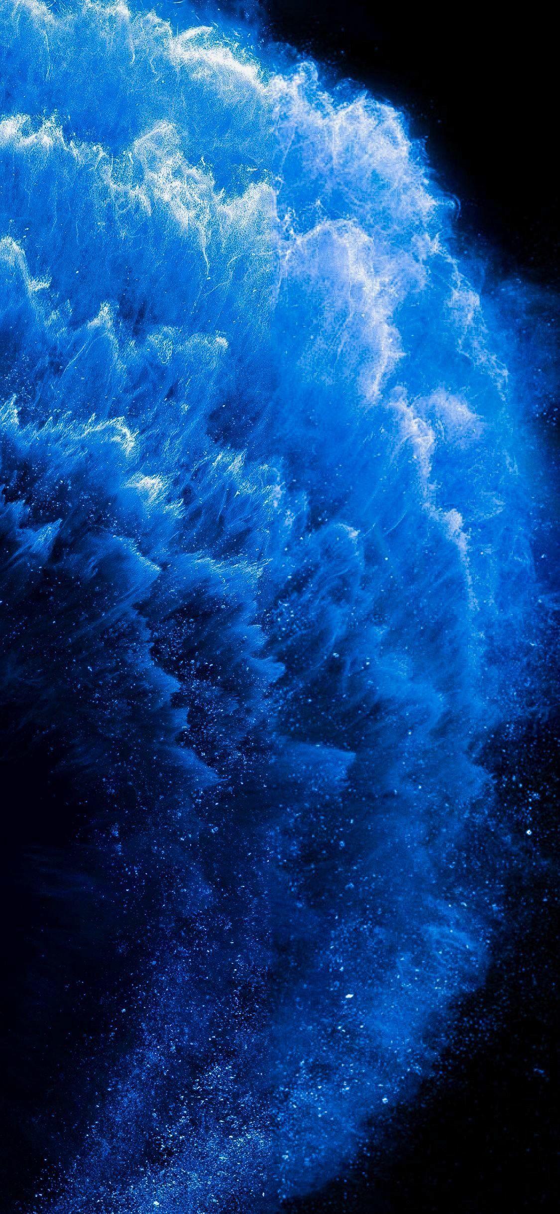iPhone X Wallpaper Sevimli duvar kağıtları, Mavi duvar