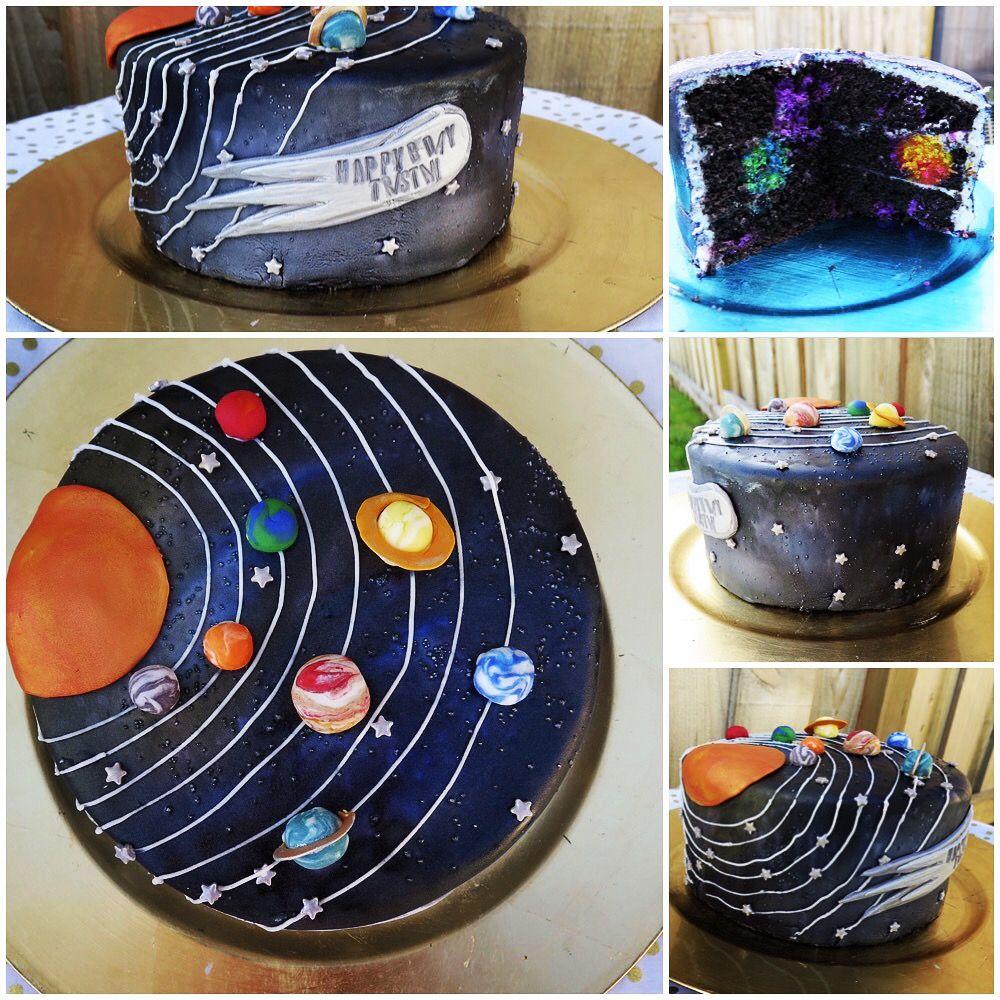 Galaxy Solar System Space Cake Solar System Cake Cake Galaxy