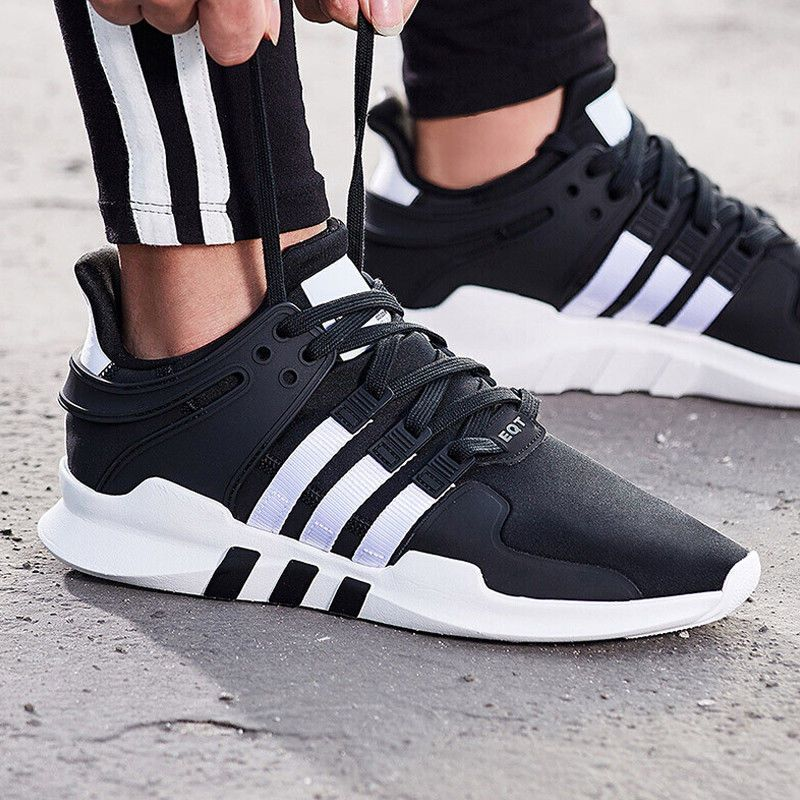 best service 79e25 cdf12 adidas EQT Support ADV   Core Black White   Mens Trainers  B37351   adidas   RunningShoes