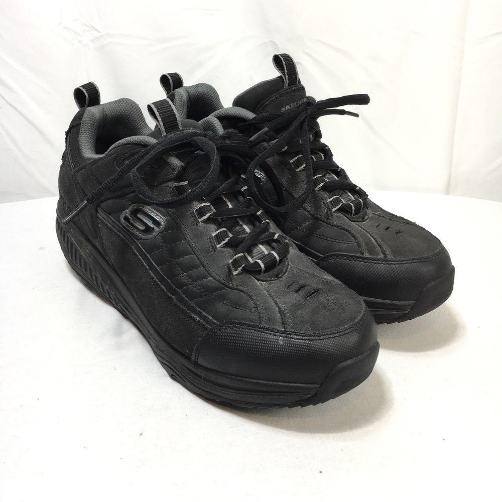 online retailer 13453 82270 Skechers Shape Ups 52000 Men s 11.5 Black Leather Lace Up Toning Walking  Shoes   eBay