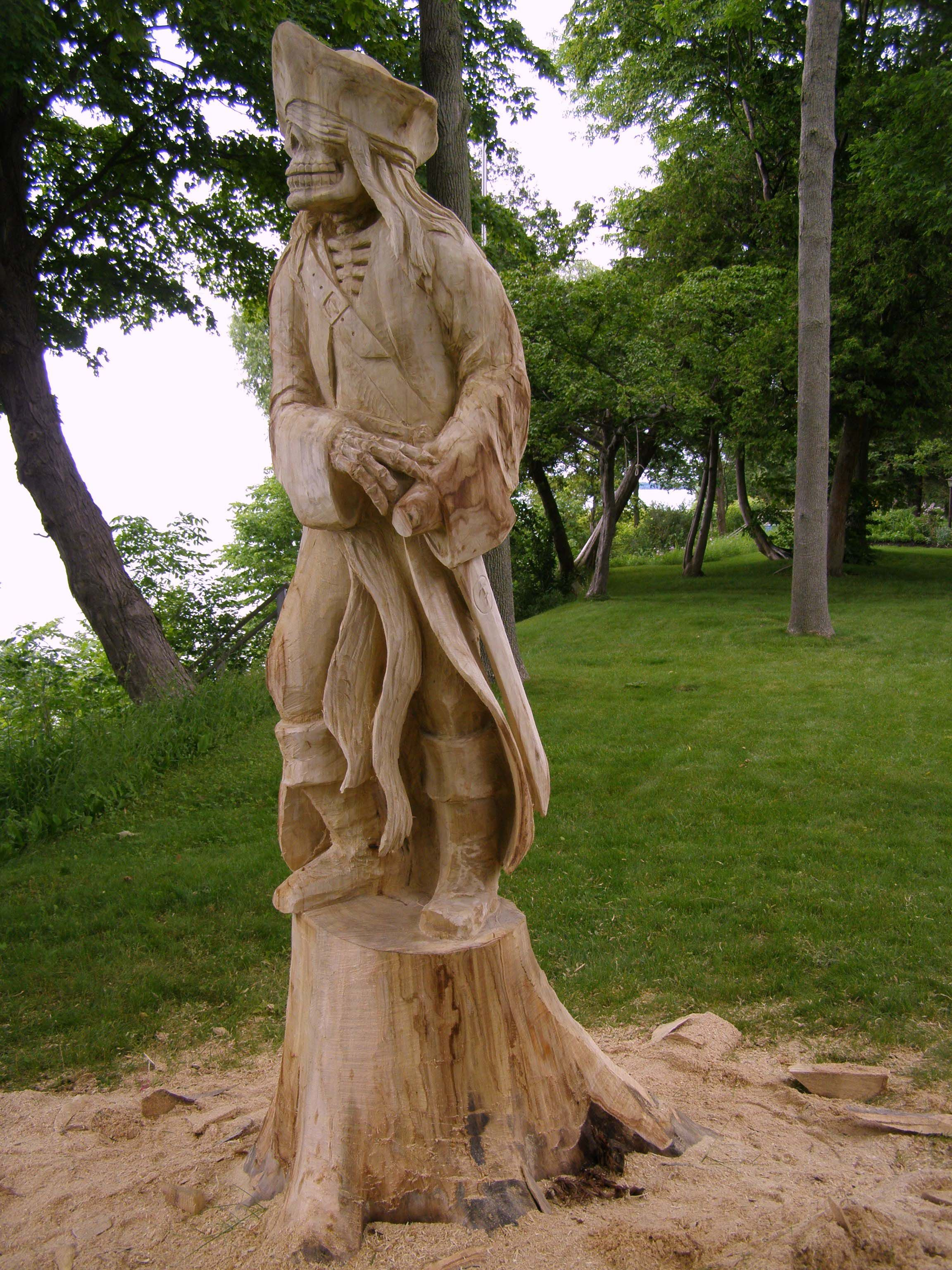 Art sculpture carving beautiful a wood carving done by paul
