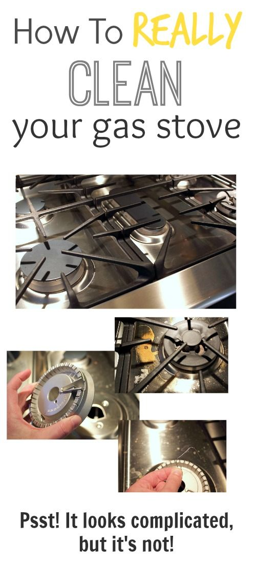 how to really clean your gas stove clean pinterest gas stove