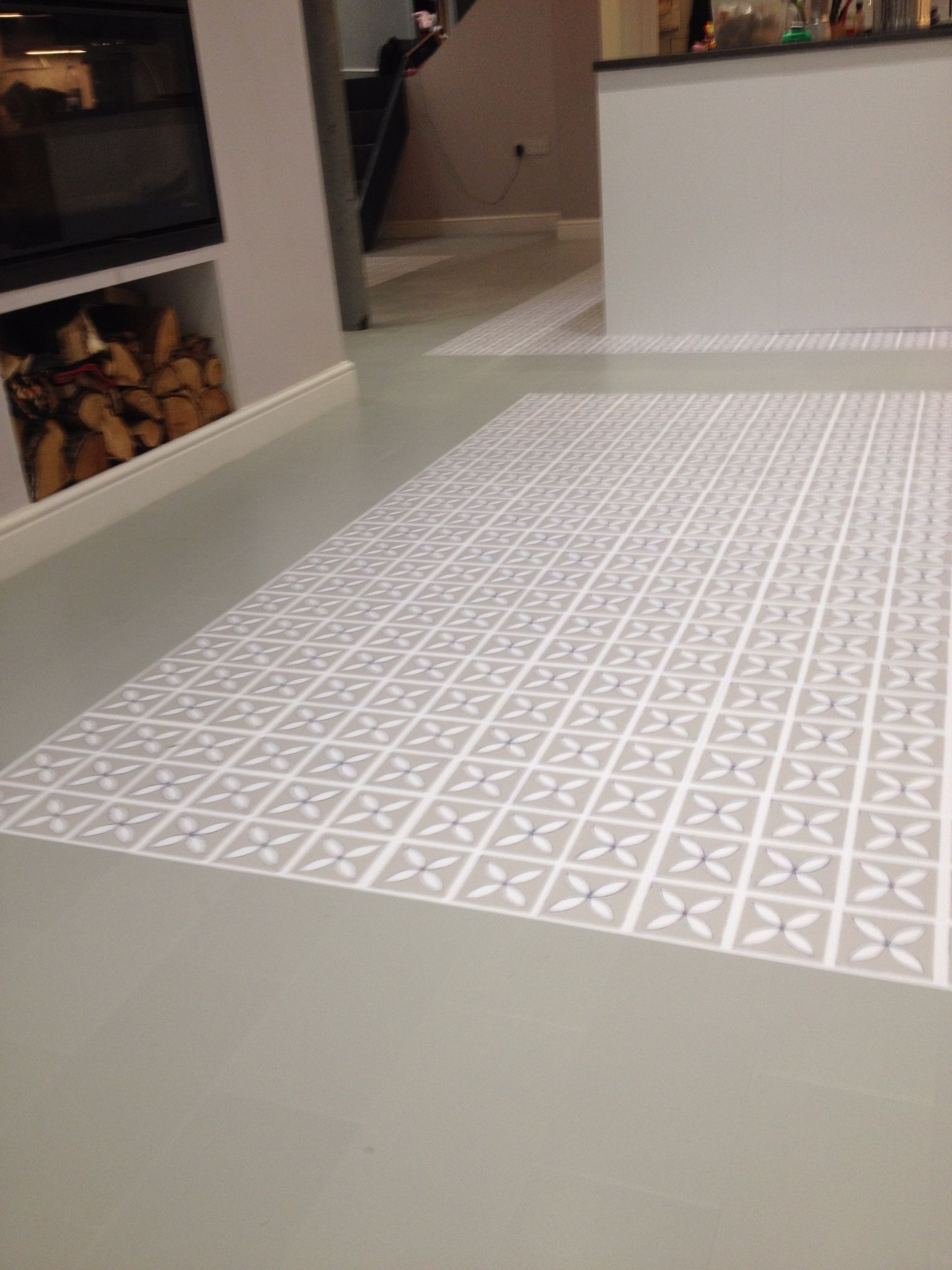 Luxury porcelain tile surface tiles luxury porcelain tiles in metal - Harvey Maria Dee Hardwicke Pebble Grey With A Steel Little Bricks Border Luxury Vinyl Tilevinyl Tilestile