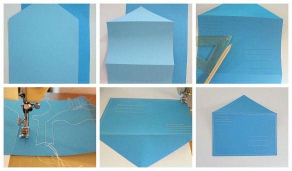 briefumschl ge n hen diy kuvert selber machen diy how to inspiration pinterest. Black Bedroom Furniture Sets. Home Design Ideas