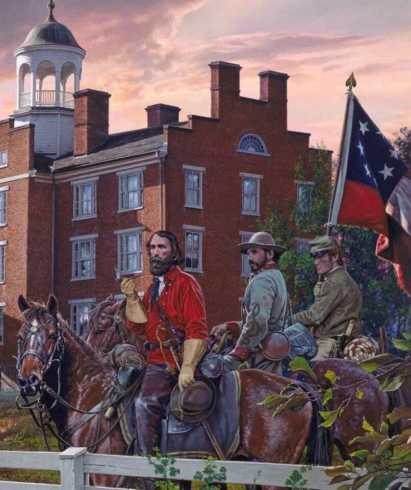 P HILL CONFEDERATE GENERAL CIVIL WAR ART PRINT A