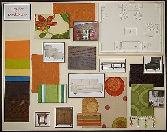 This Is A Design Board I Created For Color Theory Class Took In School Our End Of Quarter Project Was To Create Presentation