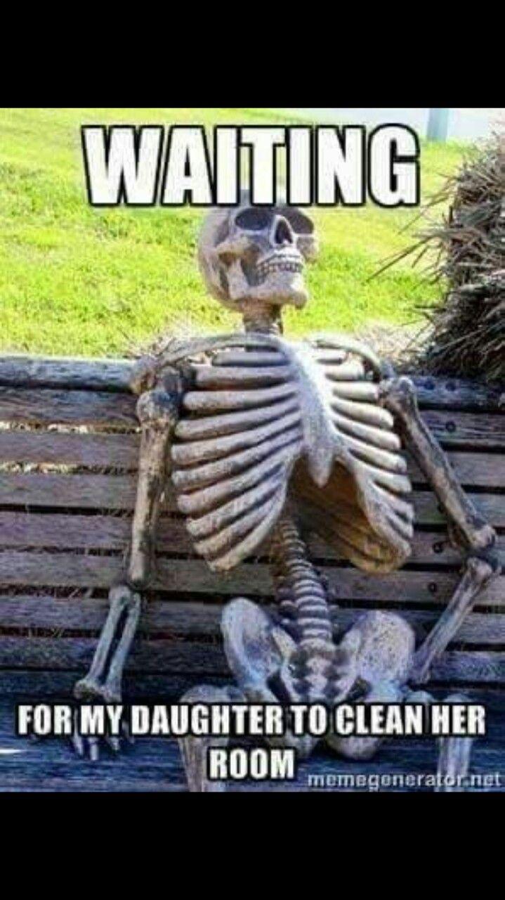 Skeleton Waiting Meme Image