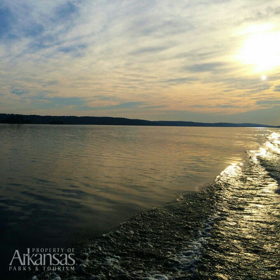 View from the boat tour on degray lake boat tours tours