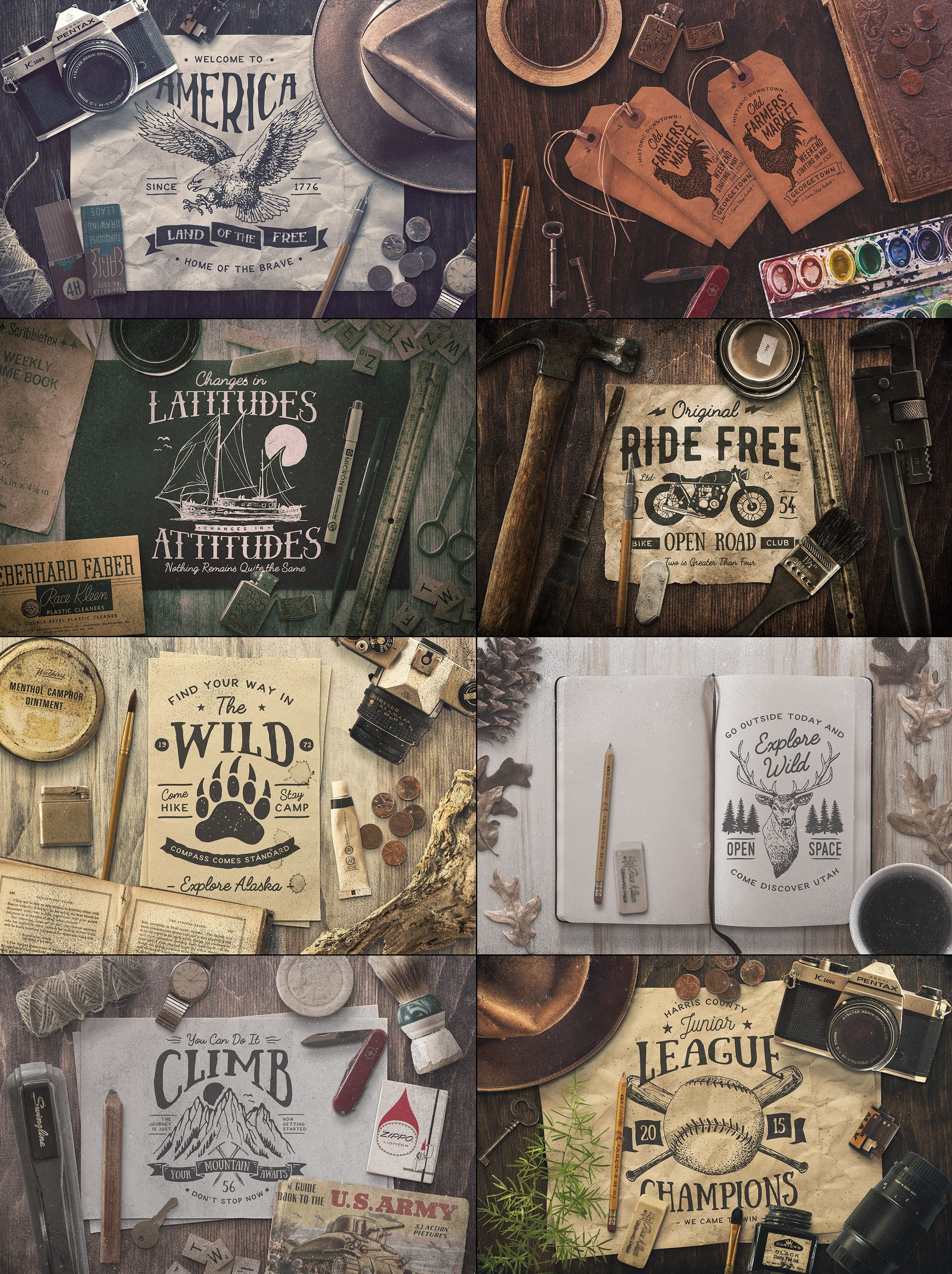 Ultimate Vintage Scene Generator by GraphicMonkee on Creative Market ...