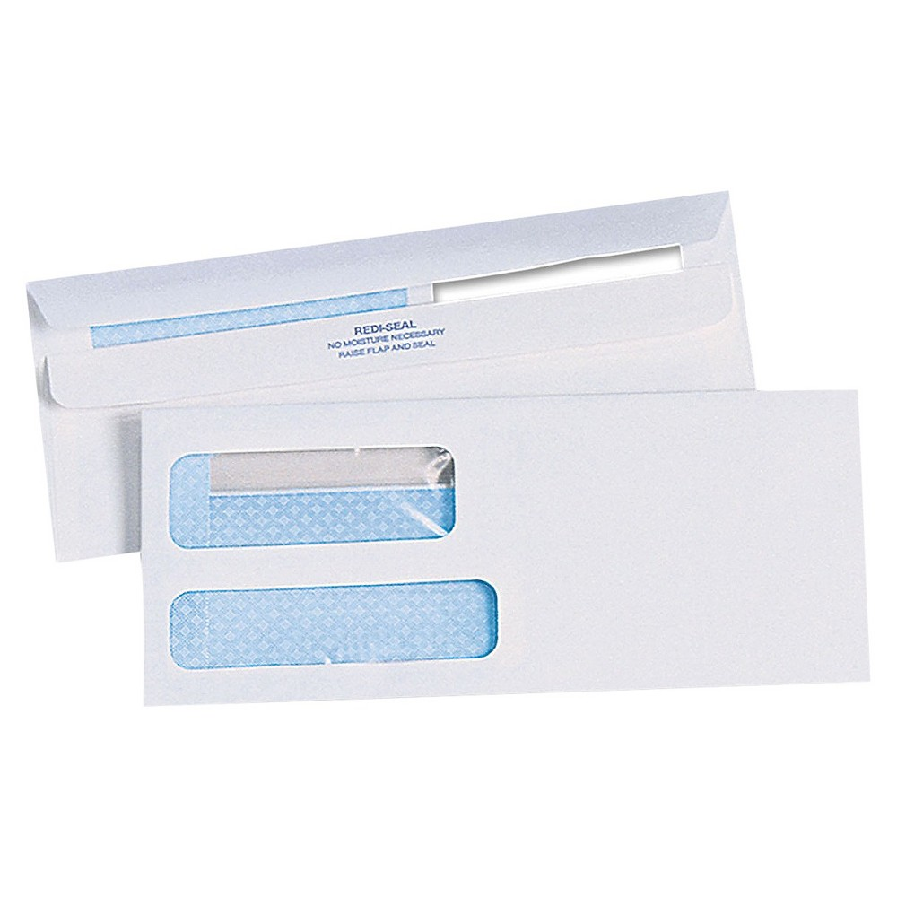 Quality Park Redi Seal Double Window Envelopes 10 White Window Envelopes Double Window Envelope Sizes