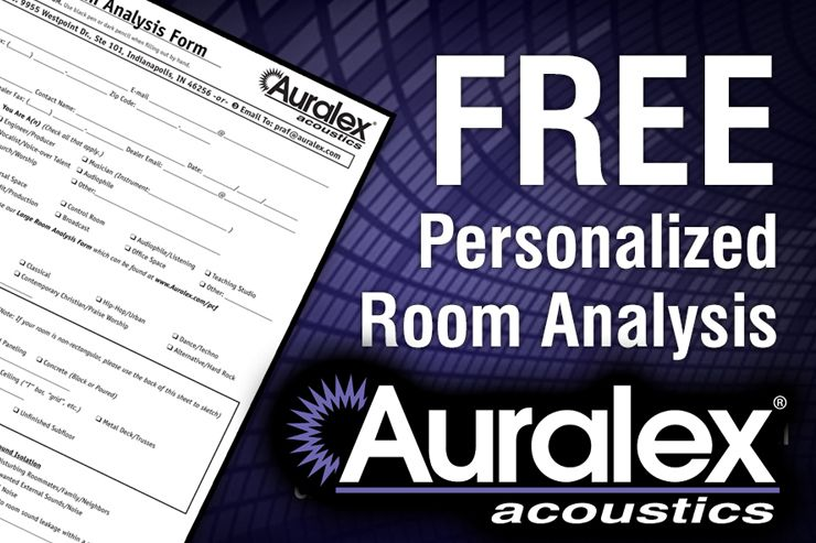 Auralex offers free personalized room analysis service
