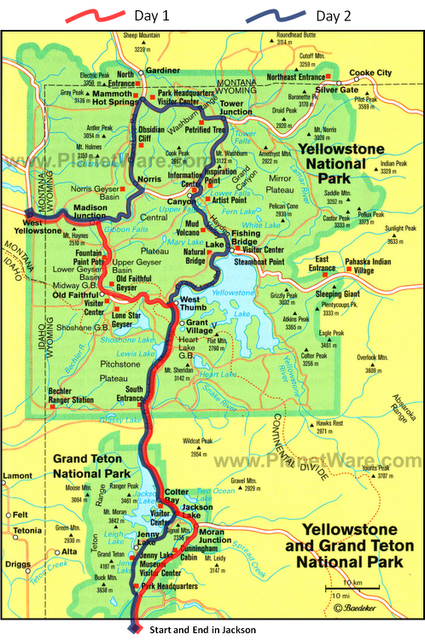 Yellowstone map   Bing Images | Beautiful | Pinterest