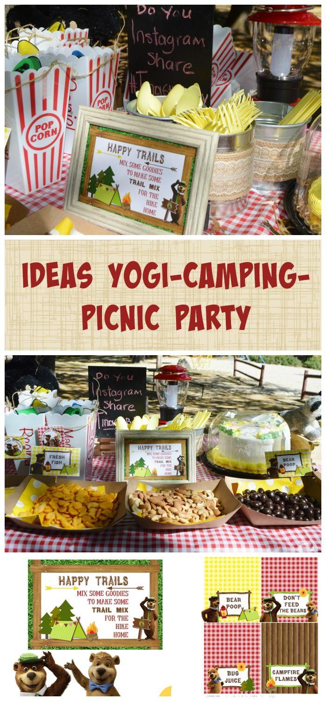 Ideas Yogi - Camping - Picnic Party Bear Birthday, Birthday Party Games, 7th Birthday