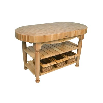John Boos American Heritage Prep Table With Butcher Block Top In