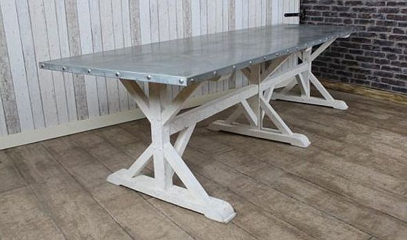 zinc top dining table For Tom to Make Pinterest Zinc table