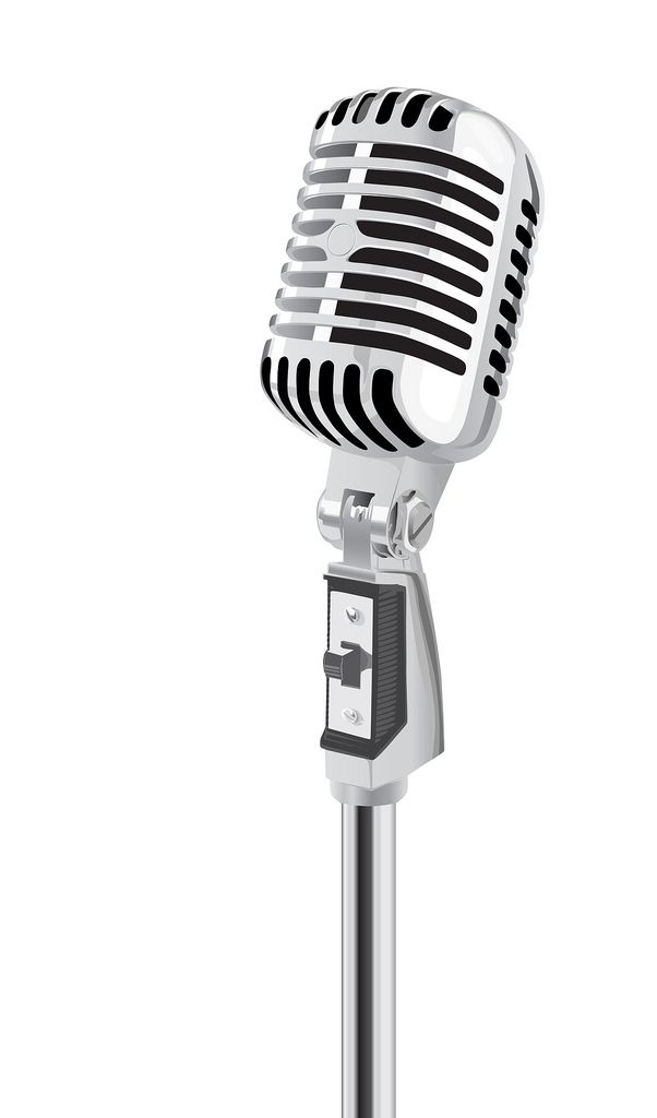 Microphone vector. Retro a photo on