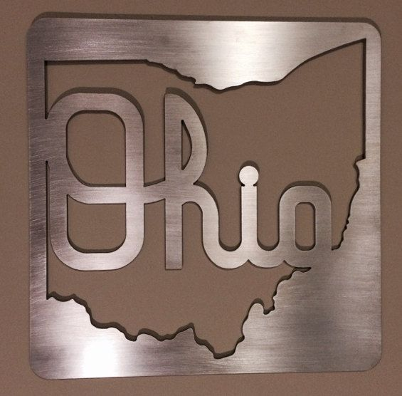 Metal Sign Wall Decor This Script Ohio Metal Wall Decor Made From 18 Thick Aluminum