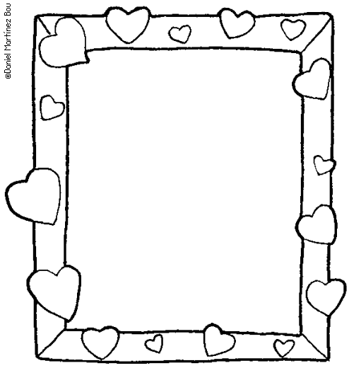 Picture Frames Coloring Pages Coloring Pages Picture Frame Template Page Borders Design