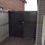 A50 Charcoal Slats Double Gate Aluminum Fence Fencing Supplies Slats