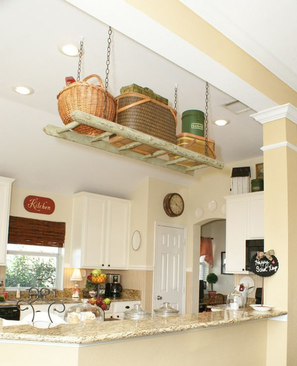 Kitchen Storage Ladder: Ladders, An Unexpected Interior Décor Element With Lots Of