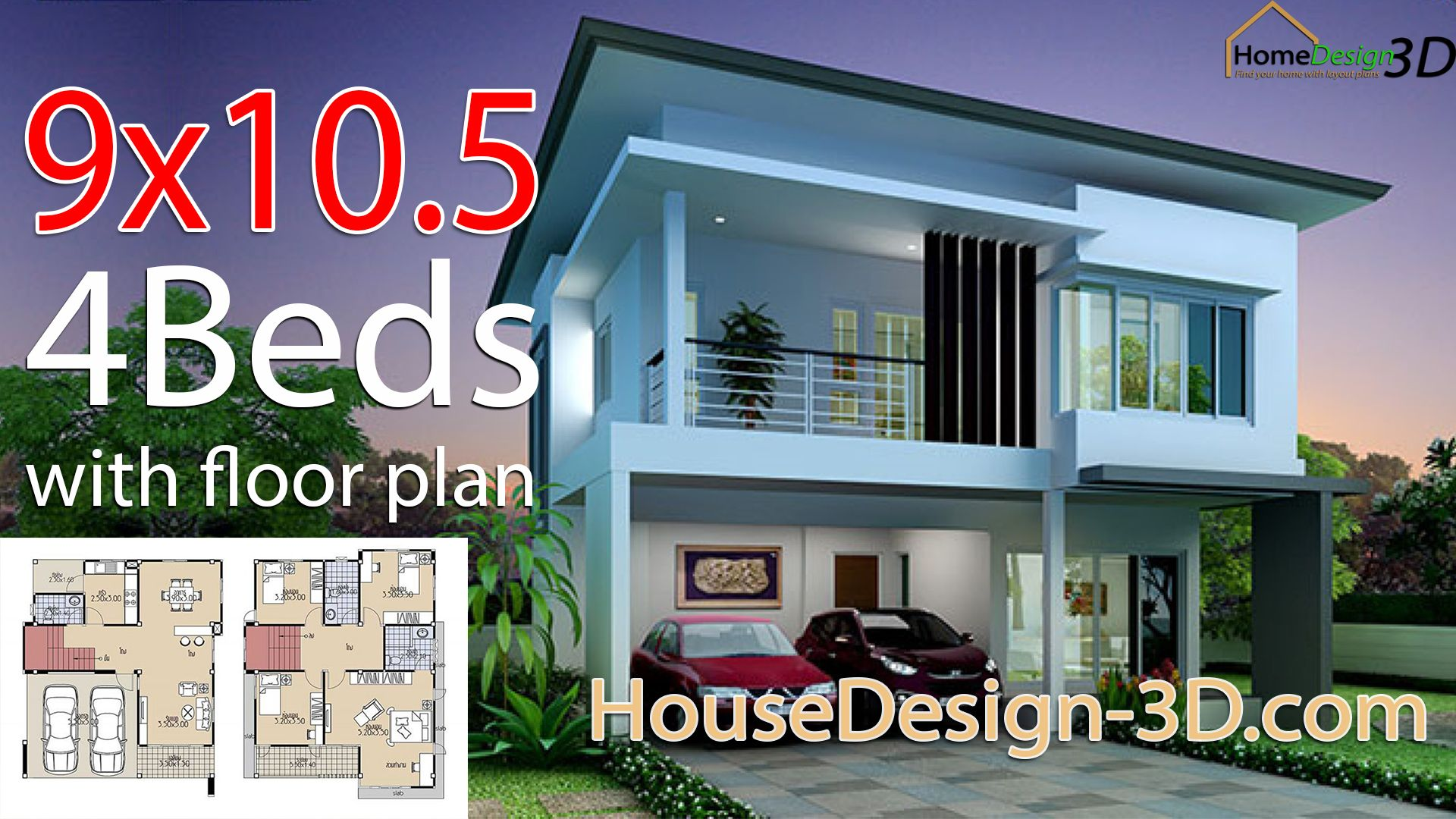 House Design 3d 9x10 5 With 4 Bedrooms In 2020 House Design Tiny House Design House Styles