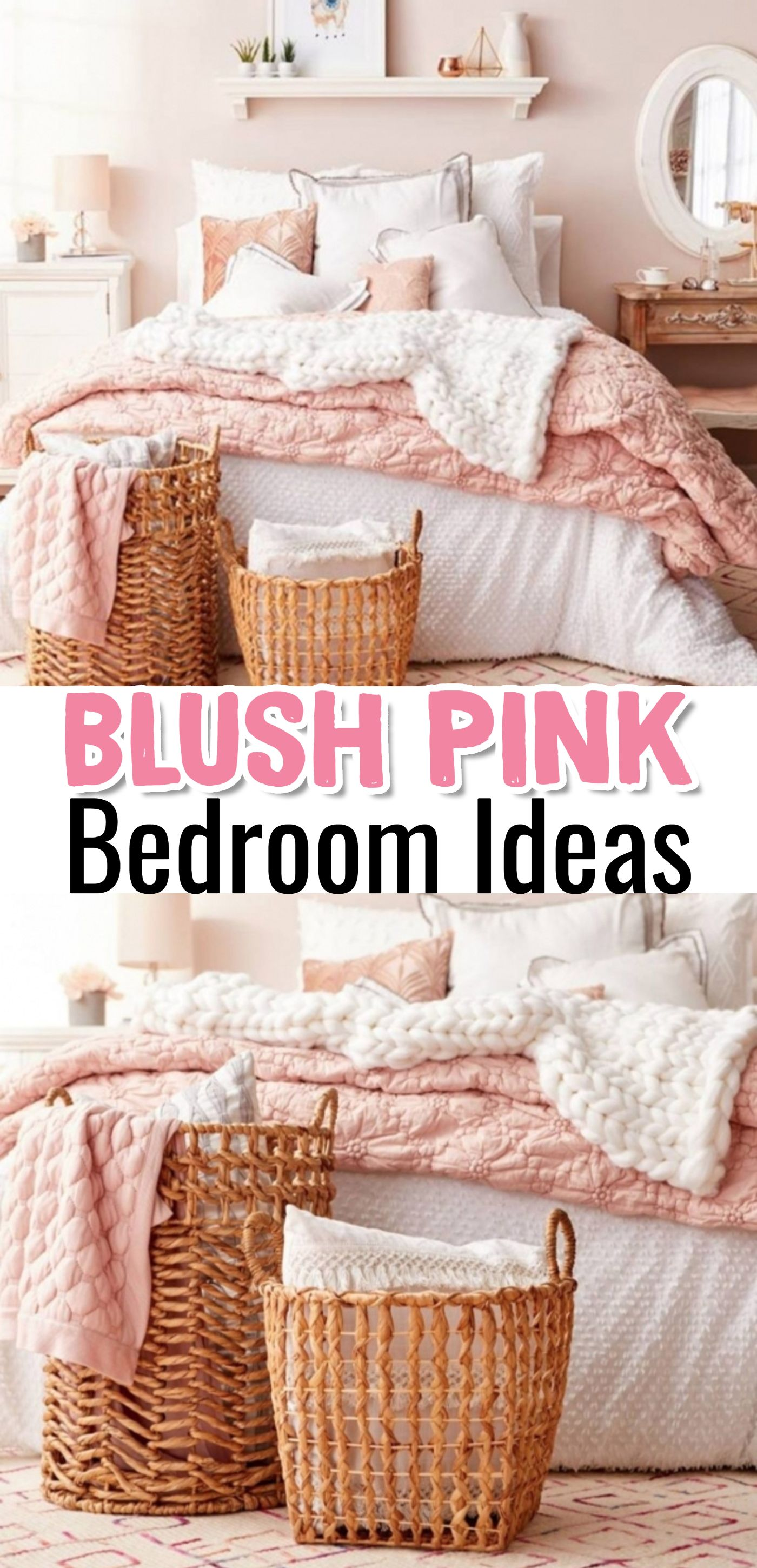 Blush Pink Bedroom Ideas - Dusty Rose Bedroom Decor and Bedding I ...
