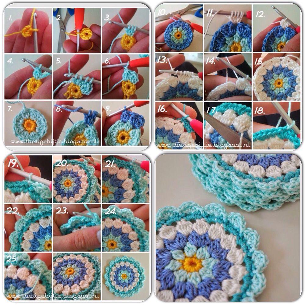 Ideal para posavasos! Crochet!