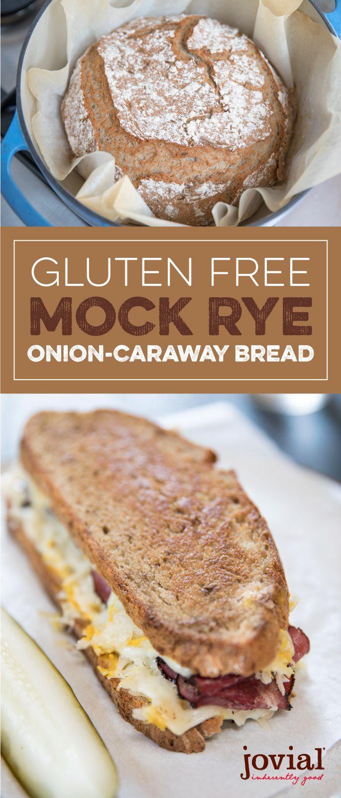 Gluten Free Mock Rye Onion Caraway Bread Recipe Homemade Gluten Free Bread Gluten Free Artisan Bread Wheat Free Bread