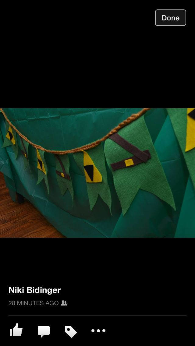 Felt Legend Of Zelda Banner Birthday