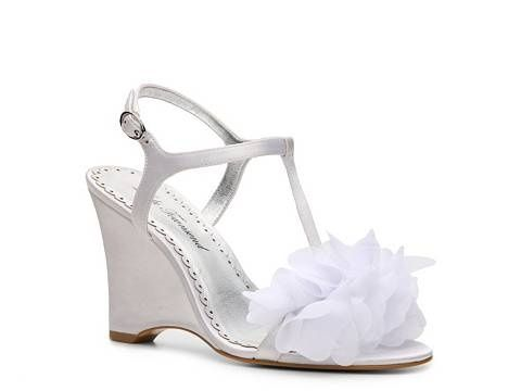 45728c150cdf White Wedge Wedding Shoes