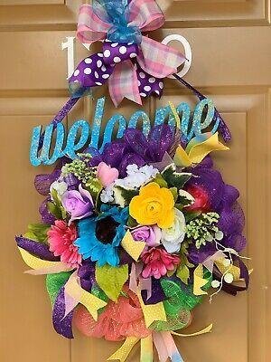 Photo of Spring/summer wreath deco mesh farmhouse wreath year around sunflower wreath #fa…