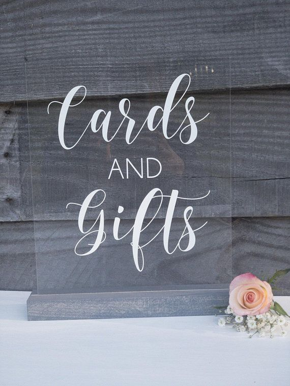 Acrylic Sign   Lucite Cards and Gifts   Wedding Decor   SS140 - Wedding reception table decorations, Wedding planning notebook, Wedding organizer planner, Signing table wedding, Wedding planner book, Wedding planner - Perfect for your gifts and cards table!