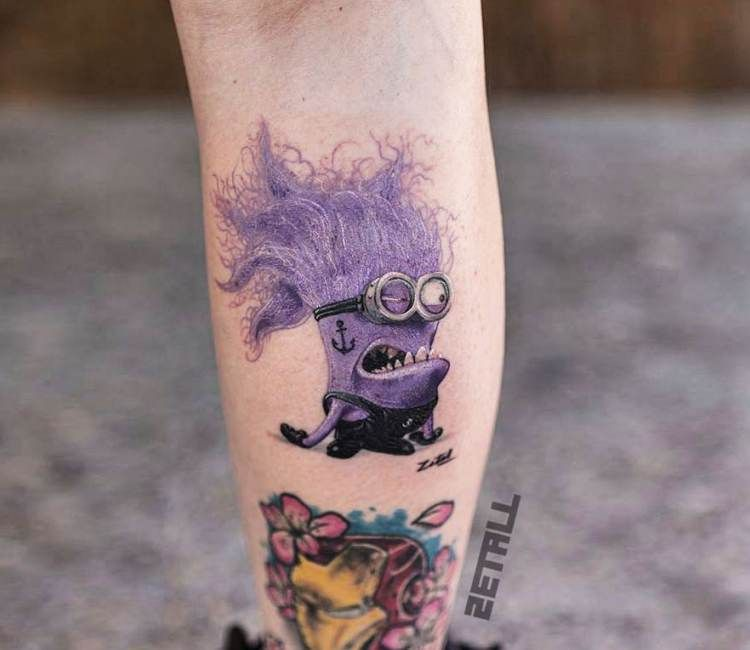 Worst Disney Tattoos: Bad Minion Tattoo By Victor Zetall