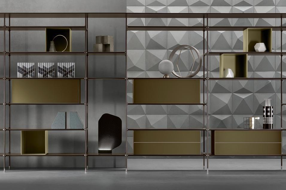 Mobili in metallo di design idee di design e opere di fabbro artigiano pinterest mobili - Rimadesio mobili ...