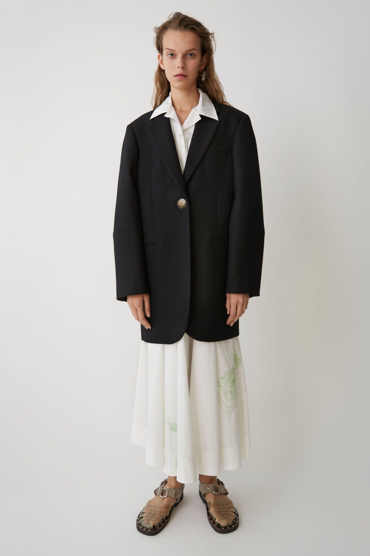 ACNE STUDIOS Klarah Flannel black.  acnestudios  cloth    72a503781ca80