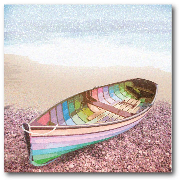 Courtside Market Pastel Row Boat Lara Skinner Gallery Wrapped Canvas Wall Art 16 Gallery Wrap Canvas Canvas Wall Art Row Boat