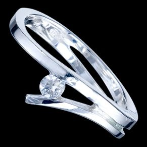Sterling silver ring, CZ, simple