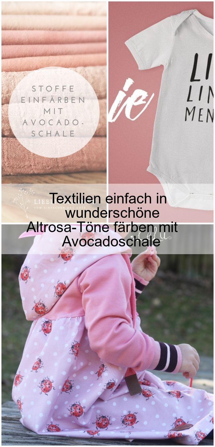 Textilien Einfach In Wunderschone Altrosa Tone Farben Mit Avocadoschale Altrosa Altrosatone Avocadoschale Einfach Farb Vetements De Bebe Vetements Bebe