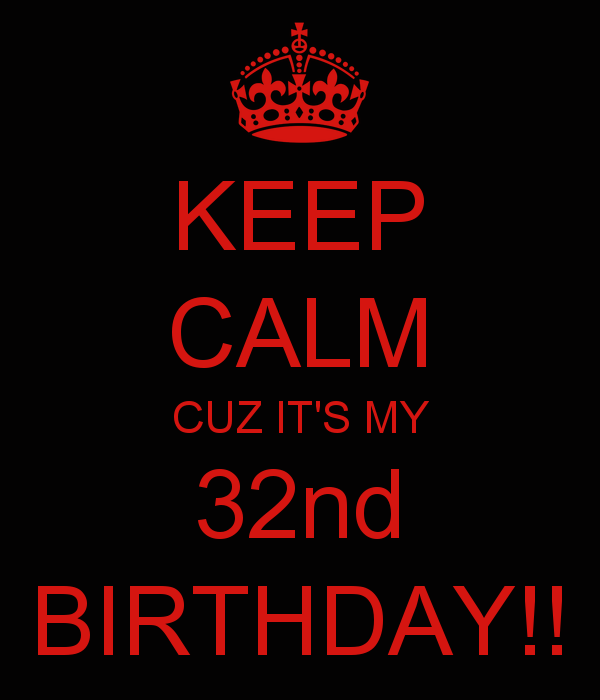 KEEP CALM CUZ IT'S MY 32nd BIRTHDAY!! | Success Conscious | 32