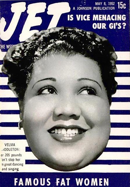 Velma Middleton, One of the Famous Fat Women - Jet Magazine, May 8, 1952