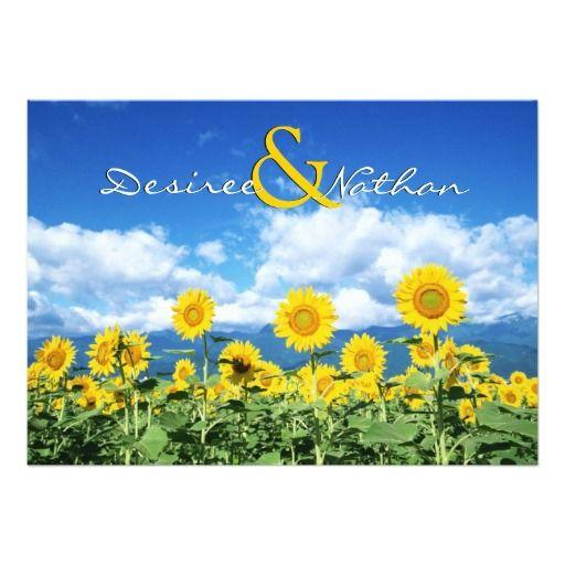Summer Sunflowers Wedding Invitation