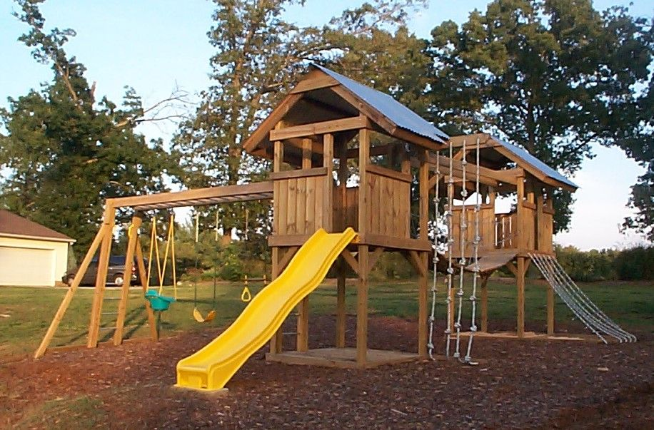 playground designs | Playground plans you customize for ...