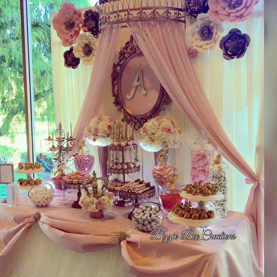 Princess Candy Table Quince Decorations Quinceanera Decorations Quinceanera Party