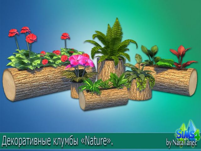 Sims 4 CCs  The Best Nature Flower Beds by Natatanec  Sims 4 CCs  The Best  Sims 4 Neue