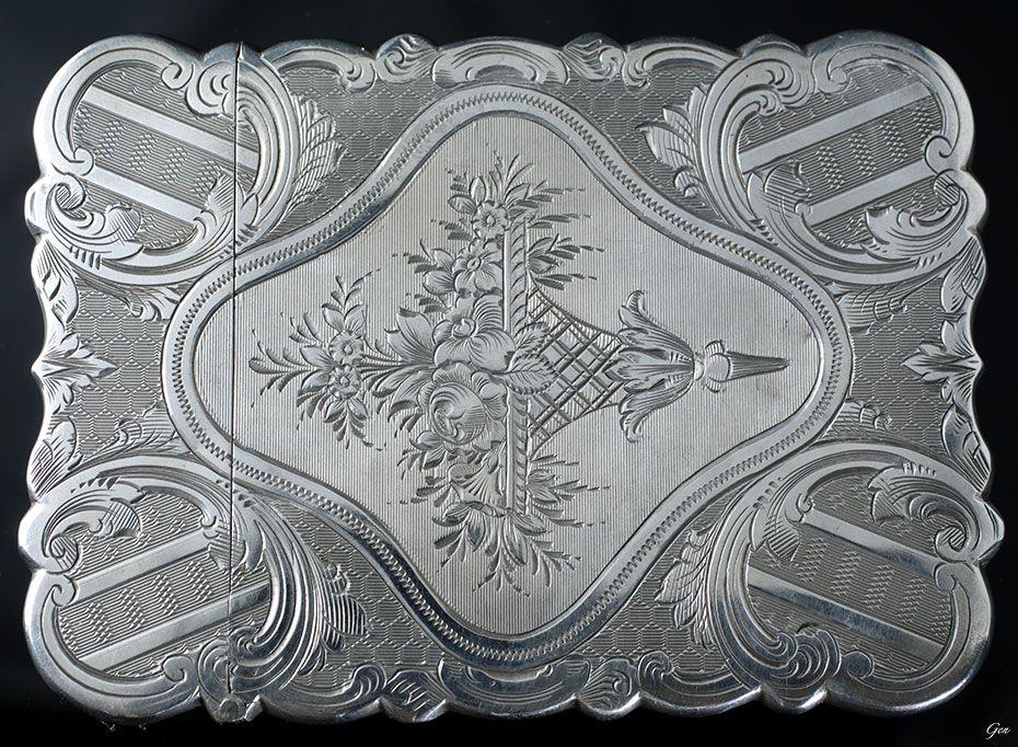 ヴィクトリアン シルバー カードケース