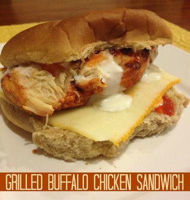 Recipe: Grilled Buffalo Chicken Sandwich