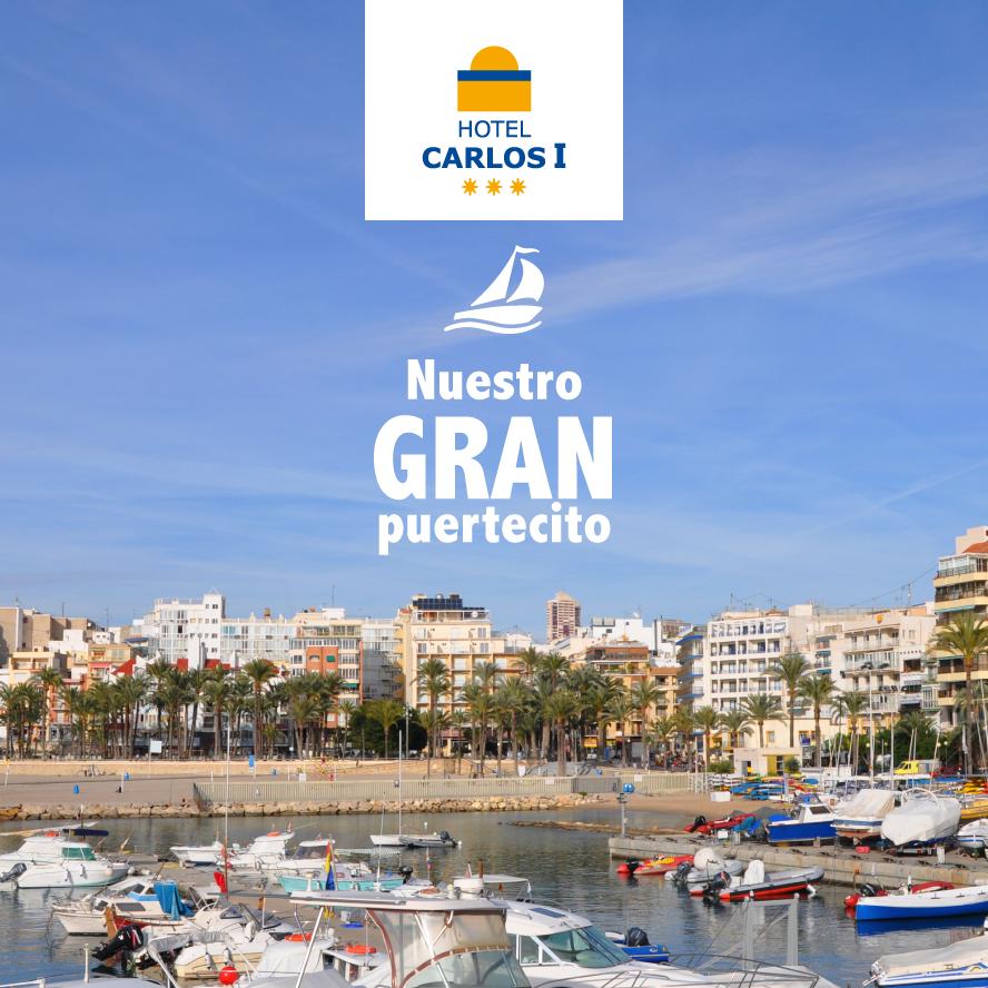 Menudo #Puerto tenemos en Benidorm, 99 amarres deportivos, para una eslora máxima permitida de 8 metros, siendo su calado en bocana de 2 m