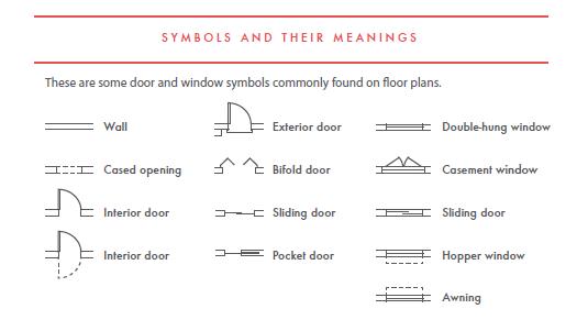 Hd Floorplan 3 Floor Plan Symbols Double Doors Exterior Blueprint Symbols