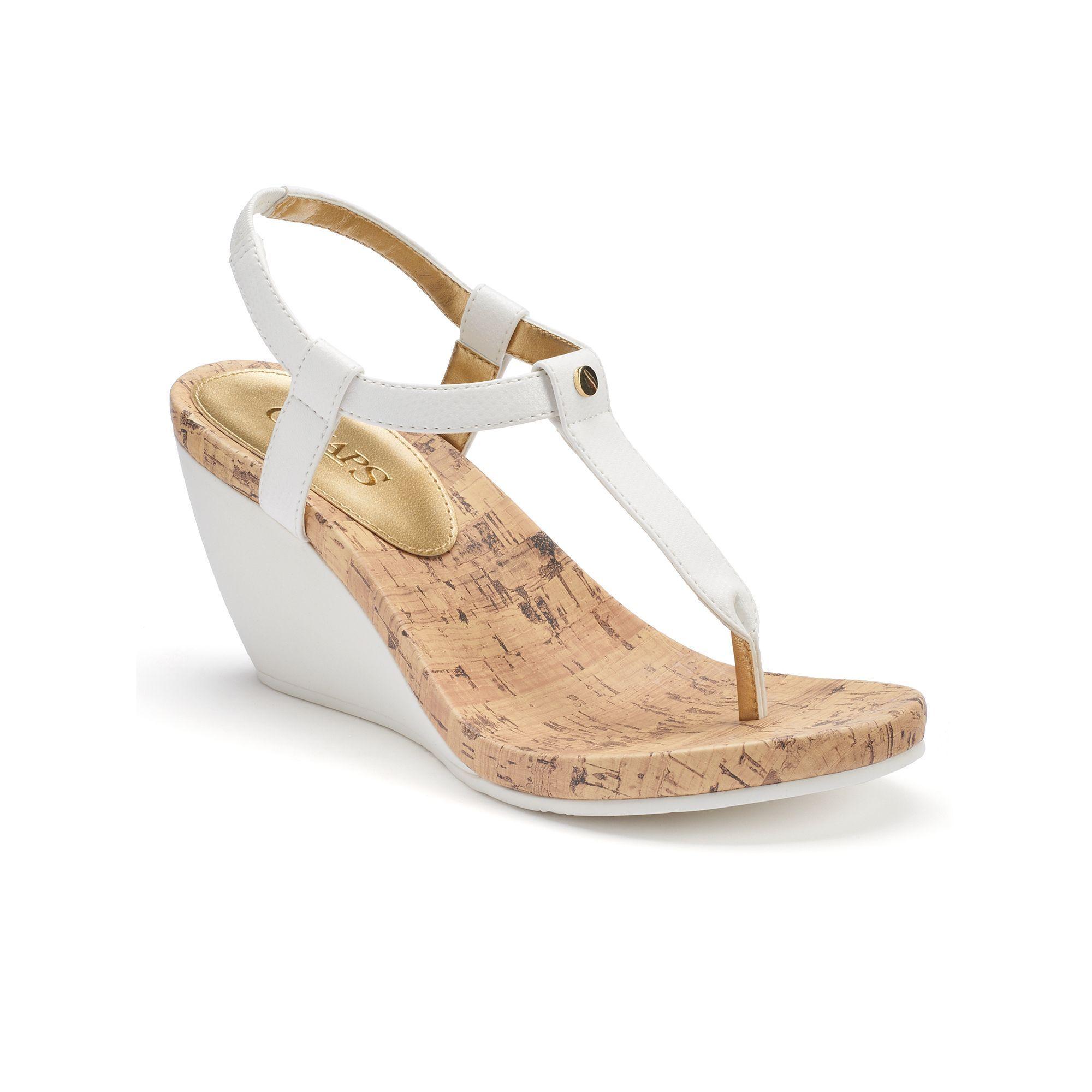 a2baf82b183 Chaps Raevyn Women s Slip-On Wedge Sandals